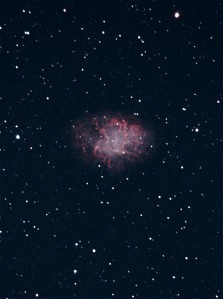 Crab Nebula (M1) photographed with our 10-inch telescope