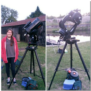 Setting up the 8-inch telescope for a recent outreach event with the Guildford Astronomical Society